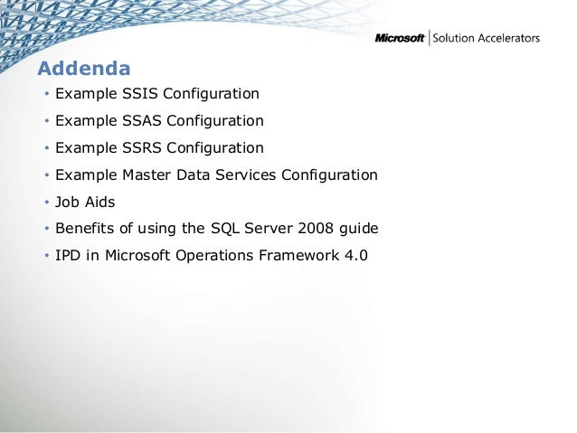 ssis framework template - infrastructure planning and design