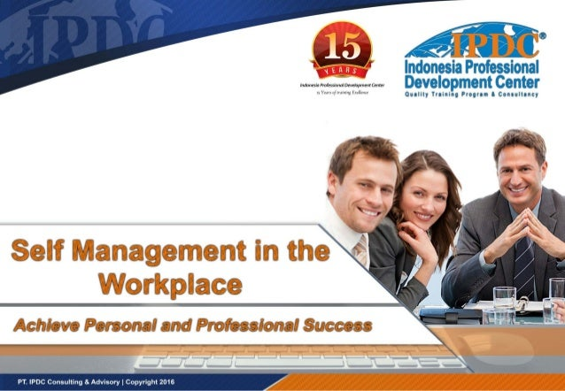 self management skills in the workplace pdf
