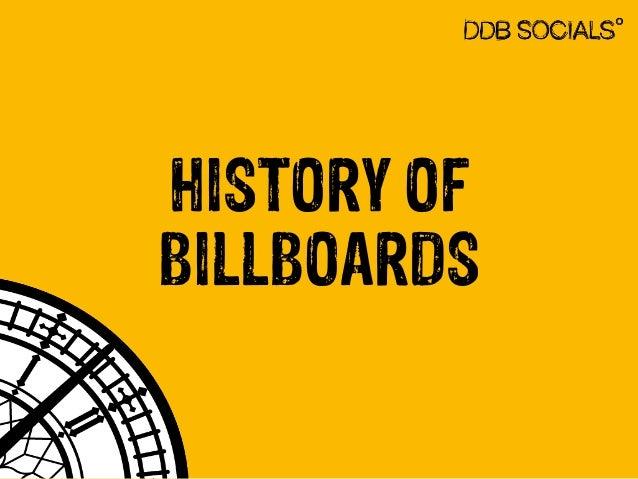 HISTORY OF  BILLBOARDS