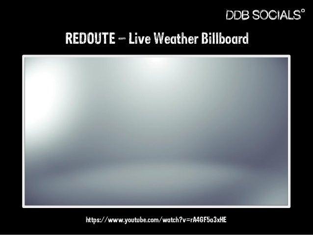 REDOUTE – Live Weather Billboard  https://www.youtube.com/watch?v=rA4GF5a3xHE