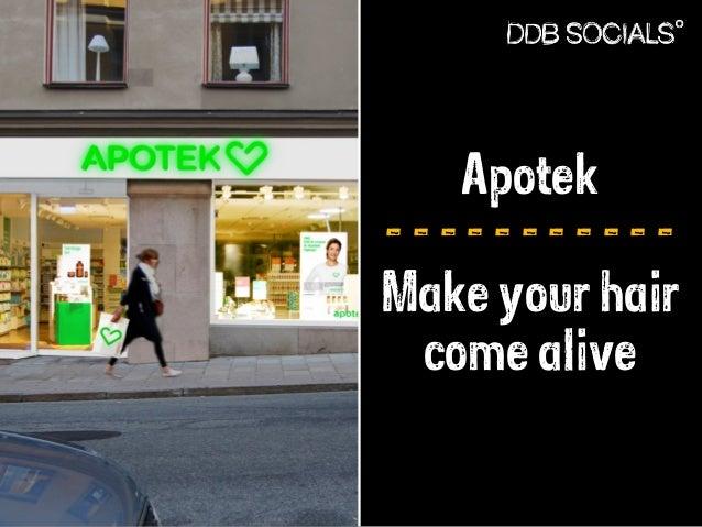 Apotek  - - - - - - - - - - -  Make your hair  come alive