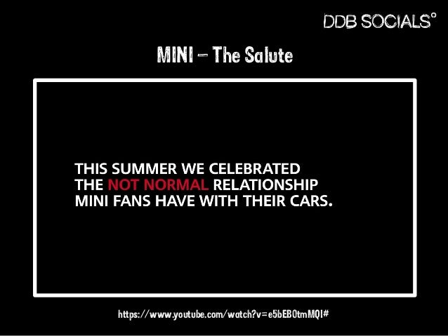MINI – The Salute  https://www.youtube.com/watch?v=e5bEB0tmMQI#