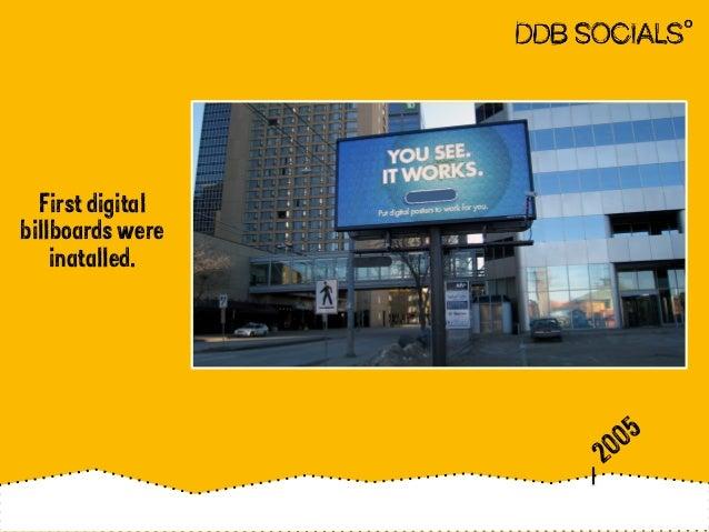 First digital  billboards were  inatalled.