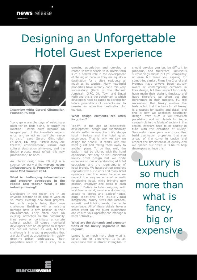 "Interview with: Gerard Glintmeijer, Founder, FG stijl ""Long gone are the days of selecting a hotel for its beds alone, or ..."