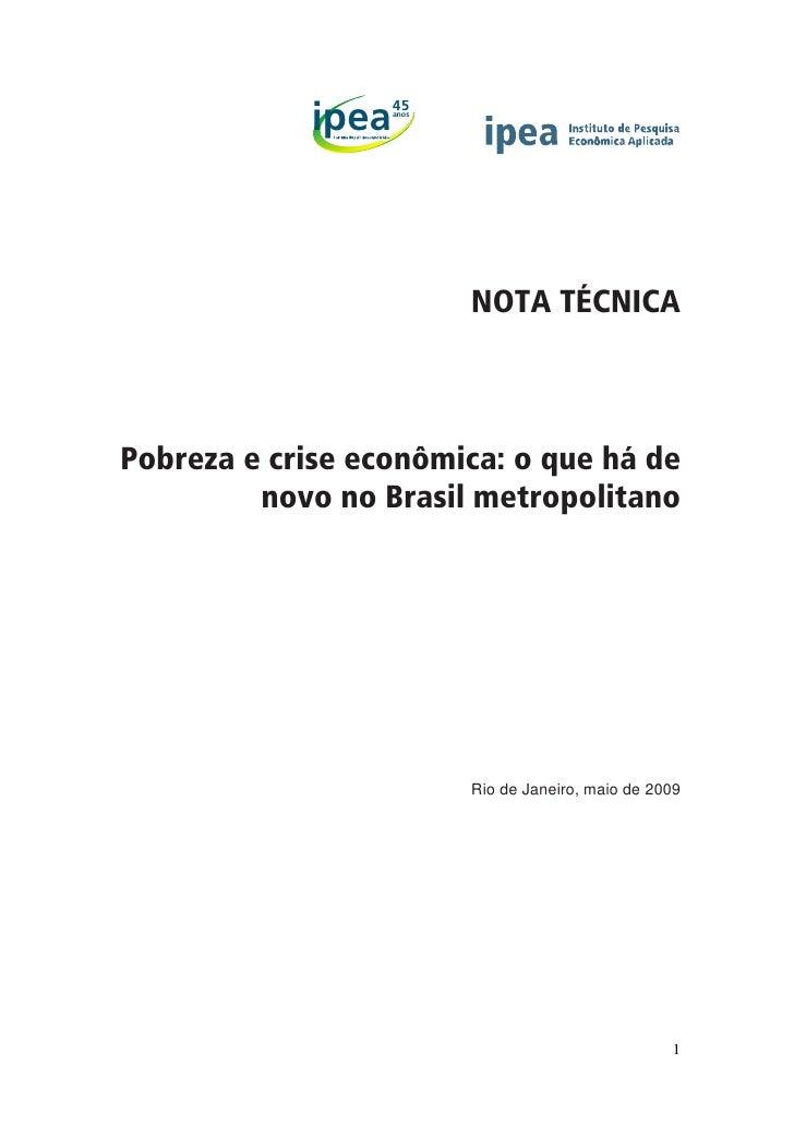 45             ipea   anos                               NOTA TÉCNICA    Pobreza e crise econômica: o que há de          n...