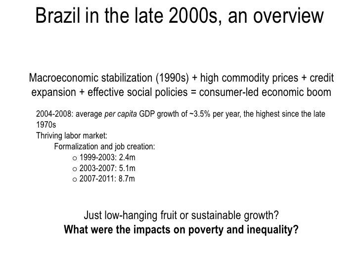inequality in brazil an overview An overview of women's work and employment in brazil decisions for life mdg3 project  both income inequality and poverty in brazil remain high, but they have.