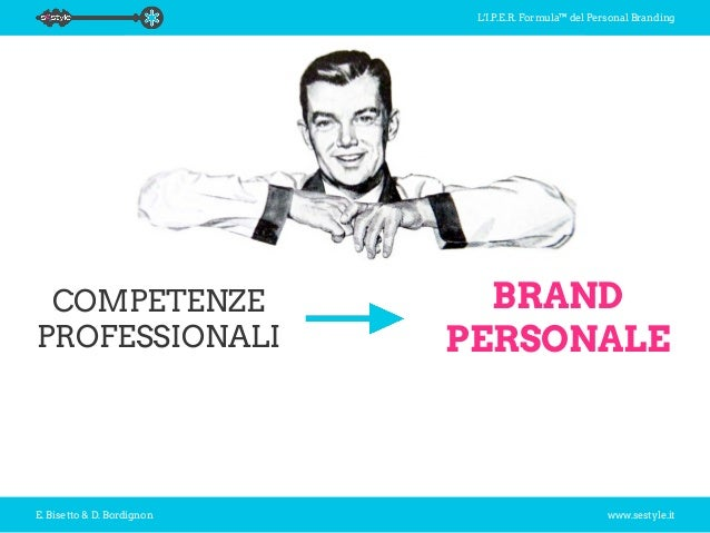 L'I.P.E.R. Formula™ del Personal Branding E. Bisetto & D. Bordignon www.sestyle.it COMPETENZE PROFESSIONALI BRAND PERSONALE