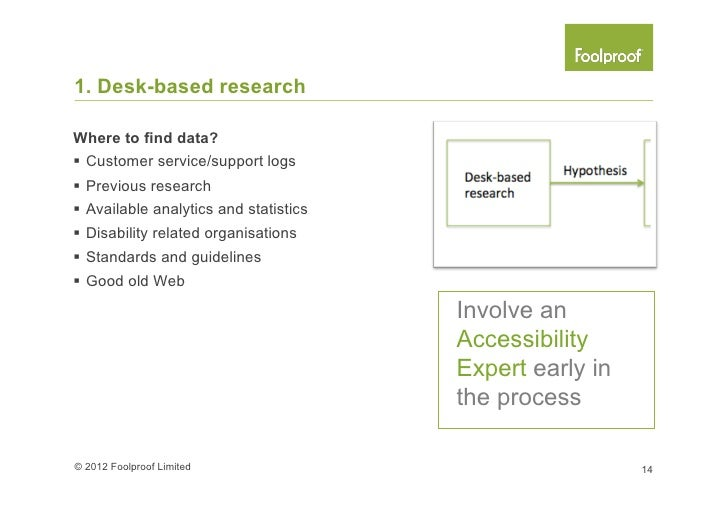 2. Contextual researchResearch tools you could use§ Home or workplace visits§ Coffee shop interviews§ One-to-one lab...