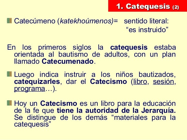 pedagogía como catequesis Slide 3