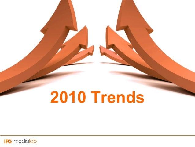 2010 Trends