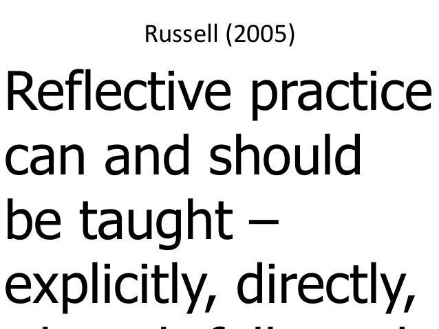 Implications of a Reflective Framework on Student Teachers