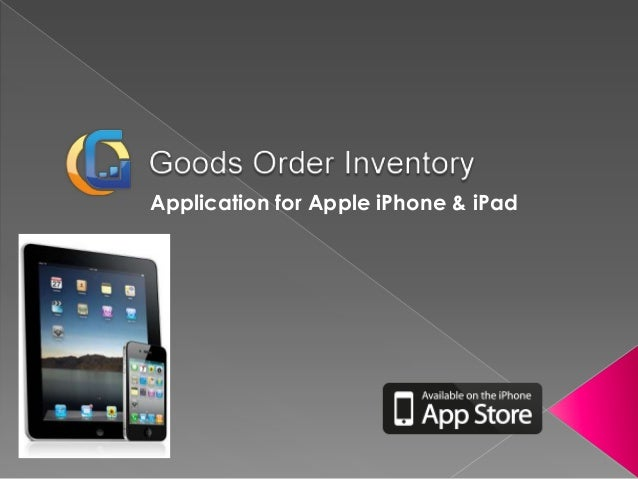 Application for Apple iPhone & iPad