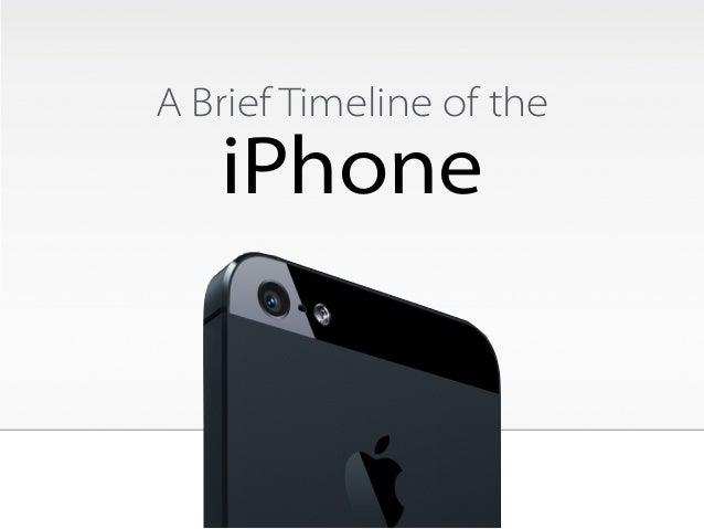 A Brief Timeline of the  iPhone
