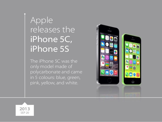 Apple Releases The IPhone 5C