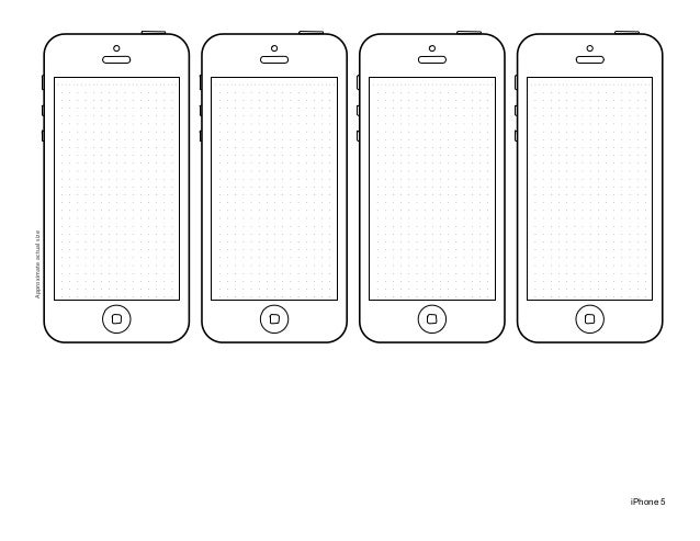 Iphone 5 Design Template
