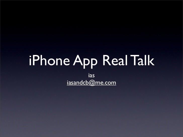 iPhone App Real Talk               ias       iasandcb@me.com
