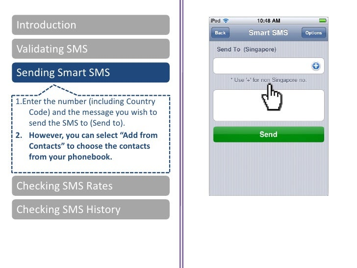 how to send anonymous sms iphone