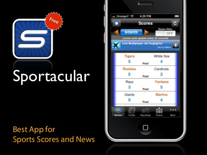 Free     Sportacular   Best App for Sports Scores and News