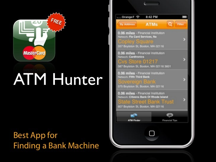 FRE             E     ATM Hunter   Best App for Finding a Bank Machine