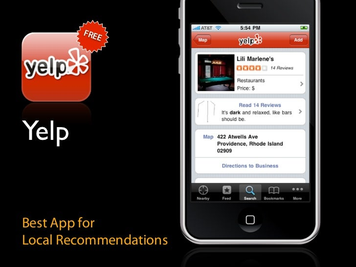 FRE            E     Yelp   Best App for Local Recommendations
