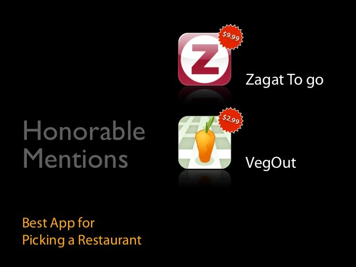 $9.9                            9                                    Zagat To go                         $2.9  Honorable  ...