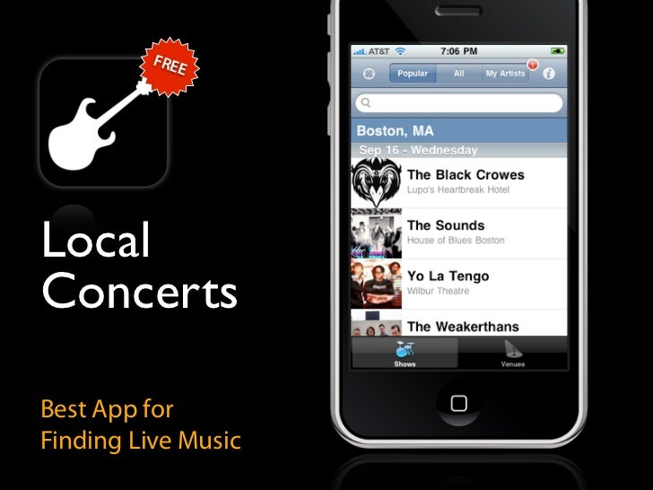 FRE              E     Local Concerts  Best App for Finding Live Music