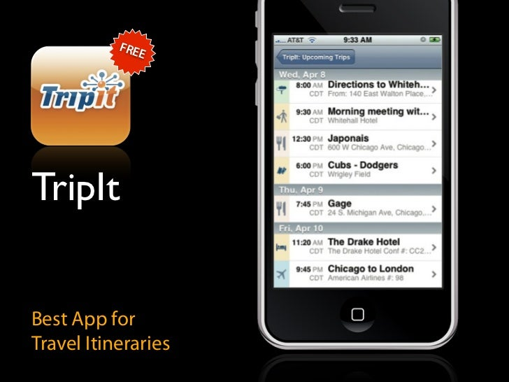 FRE               E     TripIt   Best App for Travel Itineraries