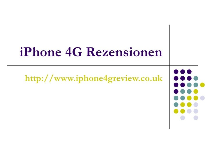 iPhone 4G Rezensionen http://www.iphone4greview.co.uk
