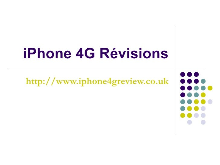 iPhone 4G Révisions http://www.iphone4greview.co.uk
