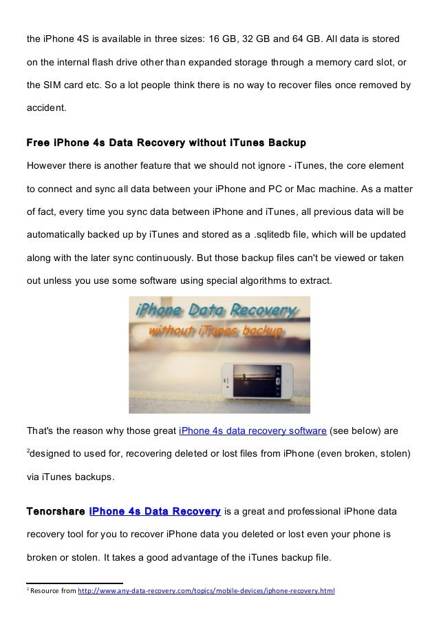 iPhone 4s Data Recovery without iTunes Backup