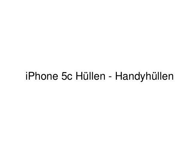 iPhone 5c Hüllen - Handyhüllen