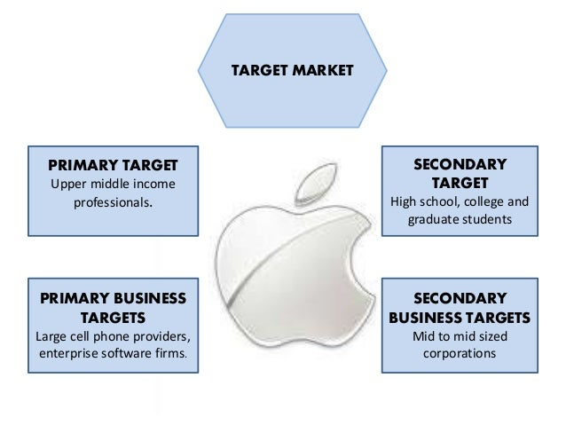 who is the primary target market for apple inc In this post, you'll find ten top takeaways from apple's marketing  want for  yourself and your customers, and what kind of company you want to  apple is  one of the first pioneers for selling experiences rather than  it's not some  magical power to predict the future it's knowing your target markets so well,.