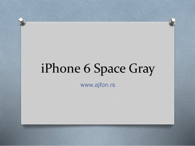 iPhone 6 Space Gray www.ajfon.rs