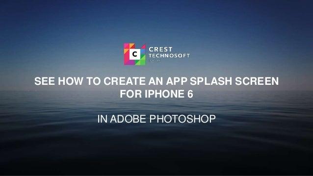how to create a splashscreen