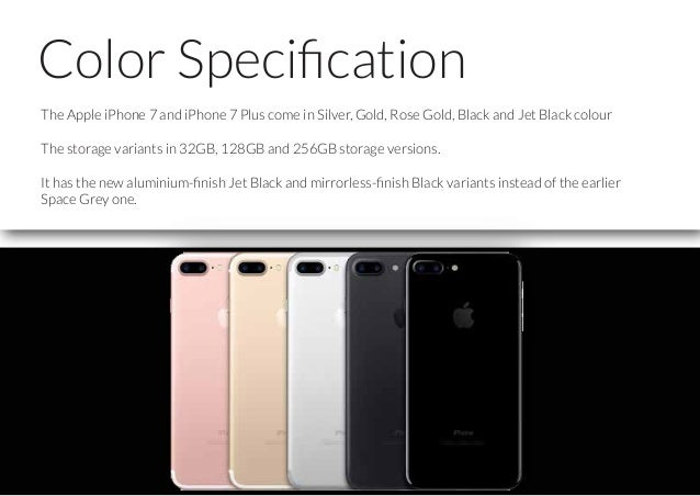 Features of iPhone 7 Slide 3