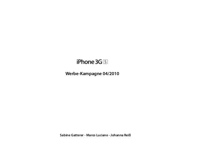 Werbe-Kampagne 04/2010 Sabine Gatterer - Marco Luciano - Johanna Reiß