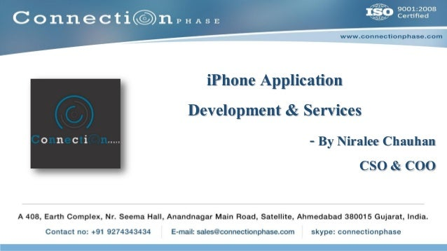 iPhone Application Development & Services - By Niralee Chauhan CSO & COO