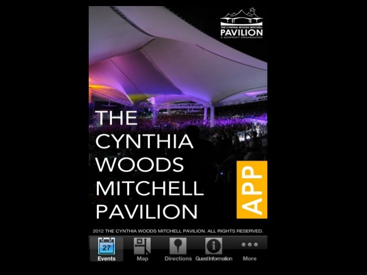 On the Events tab, users can find                  a list of all events at The Pavilion Simply, click  on an eventto get d...