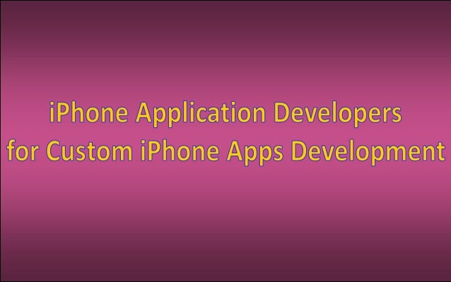 Hiring an iPhone developer is not an easy task. It needs some observation or conversation with the companyproviding this s...