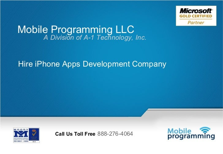 Mobile Programming LLC      A Division of A-1 Technology, Inc.Hire iPhone Apps Development Company         Call Us Toll Fr...
