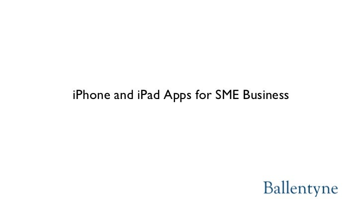 iPhone and iPad Apps for SME Business