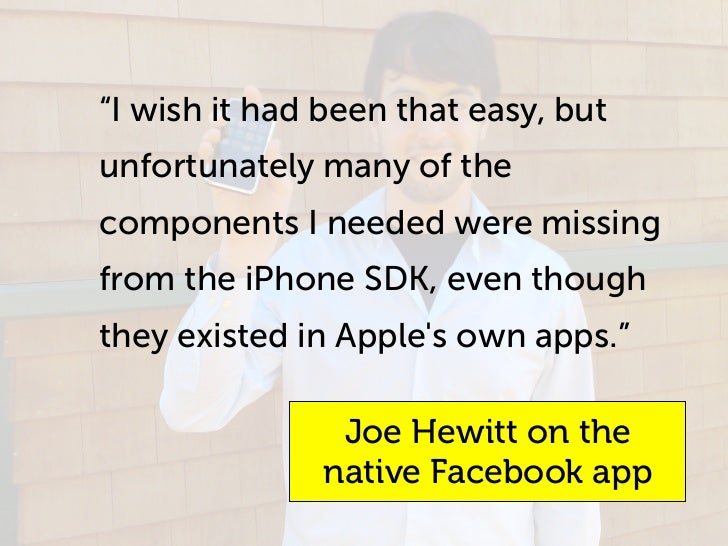 """""""I wish it had been that easy, but unfortunately many of the components I needed were missing from the iPhone SDK, even th..."""