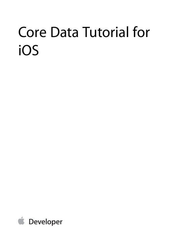 Core Data Tutorial for iOS