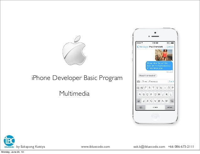 iPhone Developer Basic ProgramDay 4 View &ViewController (2)by Eakapong Kattiya www.ibluecode.com eak.k@ibluecode.com +66 ...