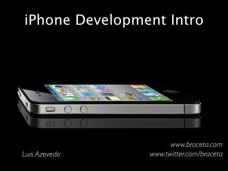 iPhone Development Intro