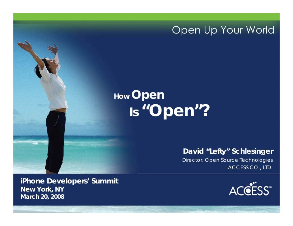 """Open Up Your World                             How  Open                             Is """"Open""""?                           ..."""