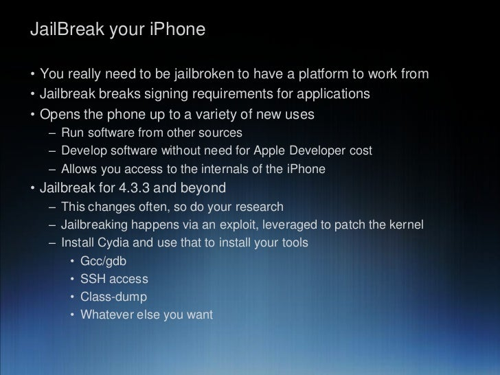 what happens if you jailbreak your iphone slicing into apple iphone engineering 5736