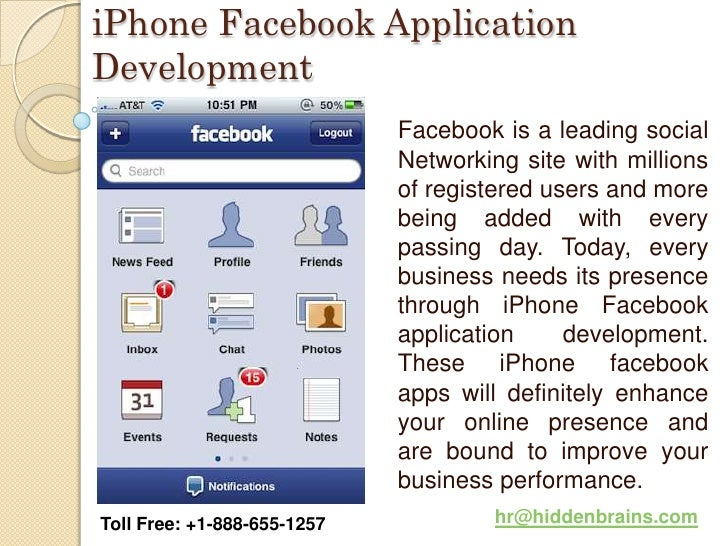 iPhone Facebook ApplicationDevelopment                             Facebook is a leading social                           ...