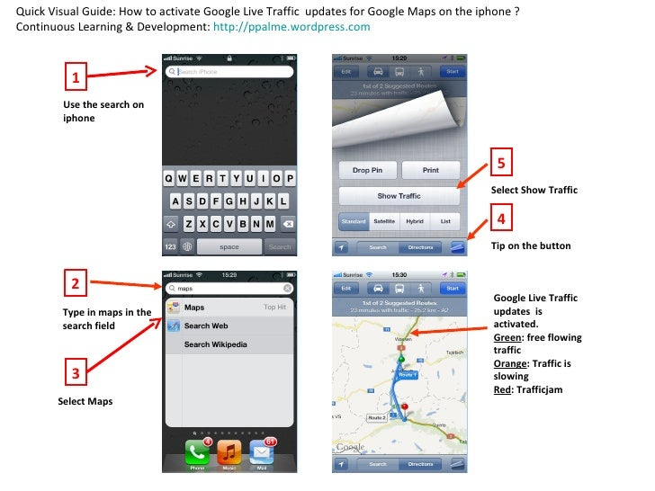 Quick Visual Guide: How to activate Google Live Traffic updates for Google Maps on the iphone ?Continuous Learning & Devel...