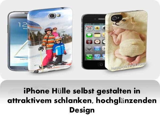 iPhone Hülle selbst gestalten in attraktivem schlanken, hochglänzenden Design